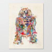Retro R2 Canvas Print