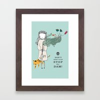 Save The World Framed Art Print