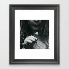 dandelion dreams Framed Art Print