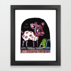 Bambi has just escaped... Framed Art Print