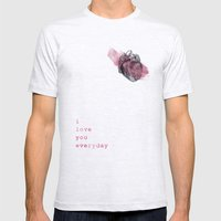 I_love_you_everyday Mens Fitted Tee Ash Grey SMALL