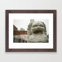 Guardian Lion Framed Art Print