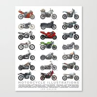 Motorcycle Illustration Poster Canvas Print