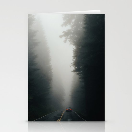 Dark Forest Driving Stationery Card