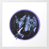 The Big Bad Brothers Gri… Art Print