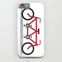 iPhone & iPod Case featuring Broken Teamwork Tandem Bicycle by sixsixninenine
