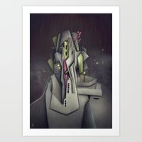 Fog Collar Art Print