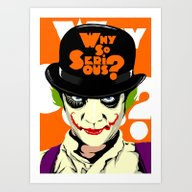A Clockwork Joker - Seri… Art Print