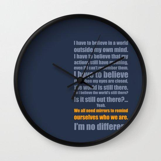 We All Need Mirrors Wall Clock
