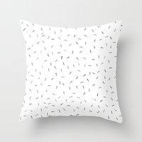 Sporadic Lines Throw Pillow