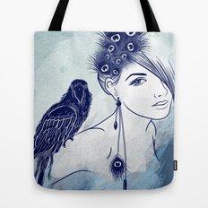 Parrot Girl Tote Bag