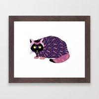Abstract Cat [BLACK] Framed Art Print