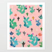Cactus Desert Pink Dusk … Art Print