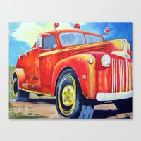 Big Red - Vintage Fire T… Canvas Print