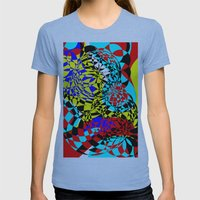Color Bomb  Womens Fitted Tee Athletic Blue SMALL