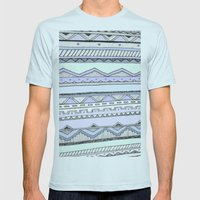 Tribal Mens Fitted Tee Light Blue SMALL
