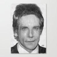 Ben Stiller Traditional Portrait Print Canvas Print