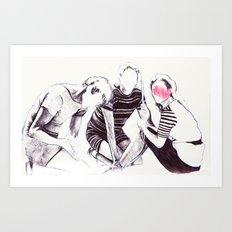 Trio on the shore Art Print