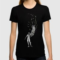 Winged  Womens Fitted Tee Black SMALL