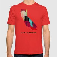 California State Map Mod… Mens Fitted Tee Red SMALL