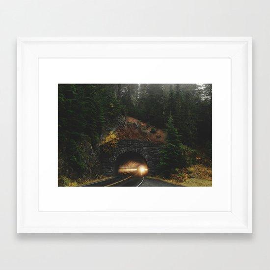 Rainier Tunnel Framed Art Print