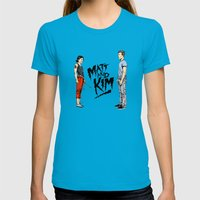 Matt and Kim Womens Fitted Tee Teal SMALL