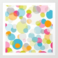 Multi Dots Art Print