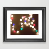 Christmas Lights Are The… Framed Art Print