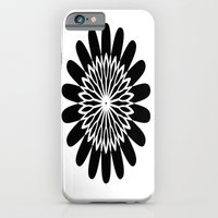 iPhone & iPod Case featuring Black Flower by liberthine01
