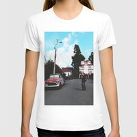 BERKELEY Womens Fitted Tee White SMALL