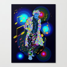 beethoven was deaf, but he could see music! Canvas Print