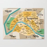 New York sur Paris Canvas Print