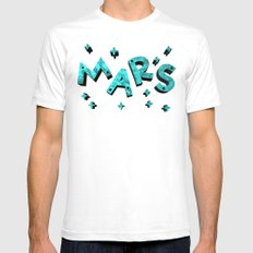 Stars And Mars Mens Fitted Tee White SMALL