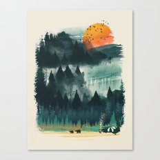 Wilderness Camp Canvas Print