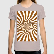 Swirl (Brown/White) Womens Fitted Tee Cinder SMALL