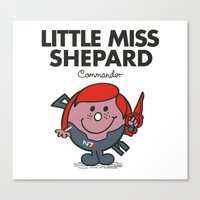 Little Miss Shepard Canvas Print