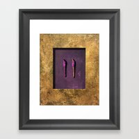 turning away Framed Art Print