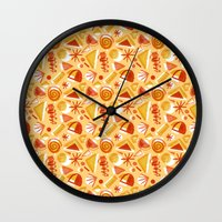 Party Pattern Wall Clock
