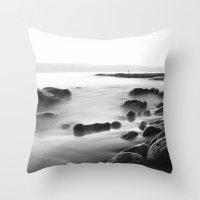 Whisper Rocks Throw Pillow