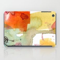 watercolour floral abstract iPad Case