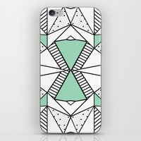 Ab Lines and Spots Mint iPhone & iPod Skin