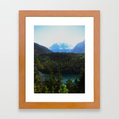 River en Route to Hopfgarten, Austria Framed Art Print
