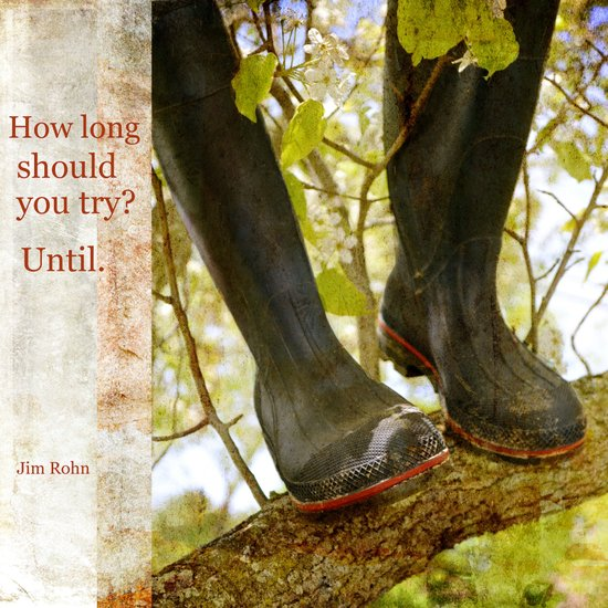 How long should you try? Art Print