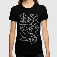 Segment Grey and Black Womens Fitted Tee Black SMALL