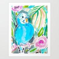 Chipper The Budgie Art Print
