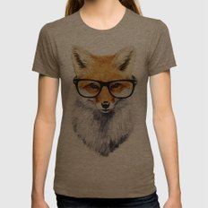 Mr. Fox Womens Fitted Tee Tri-Coffee MEDIUM