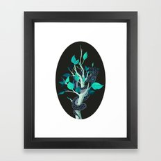 Snake - Blue Framed Art Print
