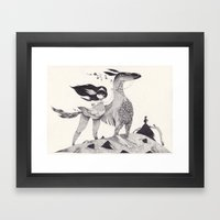 le souffle Framed Art Print