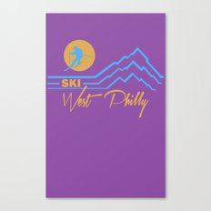 Ski West Philly Canvas Print