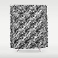 Black and White Chic Zebra Print Stripes Shower Curtain
